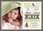 Peace Peak -  Babys First Christmas Cards