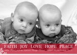 Five Wishes Crimson -  Babys First Christmas Cards