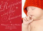Sparkle Rejoice - Baby Christmas Cards