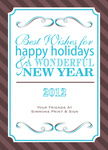 Holiday Plaque -  Christmas Cards for Business