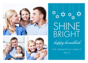 Shine Bright Hanukkah - Hanukkah photo cards