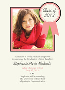 Rose Ribbon -  Photo Graduation Invitations