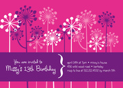 Groove Grove - Girl Birthday Invitations