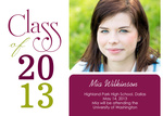Graduation Announcement Cards - Maroon Grad