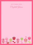Delft Pink -  Baby Shower Thank You Notes
