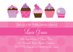 Cupcake Cutie - Teenage Party Invitations