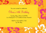 Fields of Gold - Teenage Party Invitations