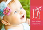 Joy Leaf - Baby Christmas Cards