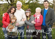 new years photo cards - Nature's New