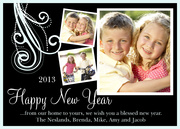 new years photo cards - Feather Blessed