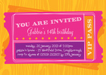 VIP Pass - Teenage Party Invitations