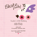 Skate Away -  Sweet 16 Invitations