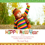 New Year's Swirls - New Year Cards