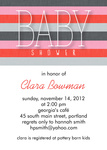 Baby Shower Invites - Shower Stripes