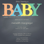 Photo Baby Shower Invites - Color Me Mom
