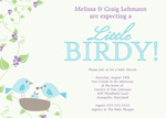 Photo Baby Shower Invitations - Little Birdy