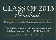 graduation reception invites - Marble Grad Invite