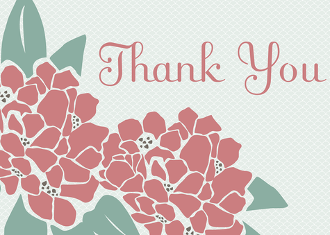 Thank You Cards for Women, Rose Fleur Design