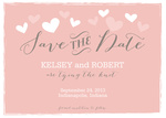 Heart Stamp Date -  Photo Save the Date Cards