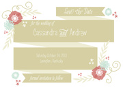 Floral Band Date -  Photo Save the Date Cards