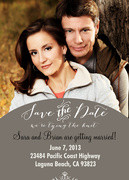 Date Portrait - Save the Date Photo Cards
