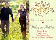 Sweetheart Duo Date -  Photo Save the Date Cards
