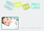 Baby Thank You Notes - Baby Bubbles Blue