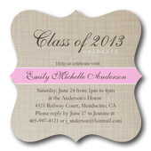 Graduation Invitations - Classic Linen Invite