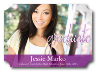 Violet View Grad - Photo Graduation Announcements