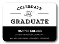 Photo Graduation Invitations - Classic Black Grad