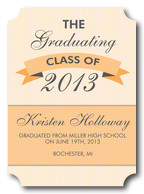 Photo Graduation Announcements - Peach Plaque Grad