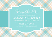 graduation reception invites - Plaid Pastel Invite