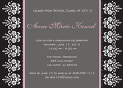 Floral Flare - graduation party invitations