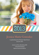 Photo Graduation Announcements - Summer Ribbon Grad
