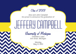 Graduation Announcement Cards - Class Emblem