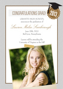 Class Topper Grad -  Photo Graduation Invitations