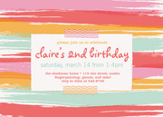 Girl Party Invitations - Sherbert Stripes