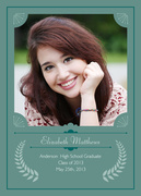 Distinguished Grad -  Photo Graduation Invitations