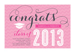 Graduation Invitation Cards - Rose Wave Invite