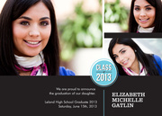 Photo Graduation Invitations - Class Stamp Grad