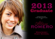 Photo Graduation Invitations - Fade In Grad