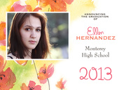 Photo Graduation Invitations - Watercolor Grad