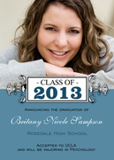 Elegant Edwardian Grad -  Photo Graduation Invitations