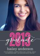 Pink Hurrah - graduation reception invites