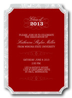 Photo Graduation Announcements - Paisley Frame