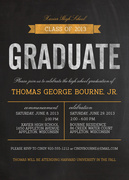 Polished Stone - graduation reception invites