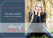 Slate Blue Grad - Photo Graduation Announcements