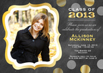 Graduation Invitations - Jewel Frame Invite