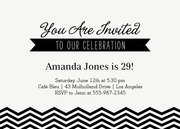 Chic Sweet - Adult Birthday Invitations