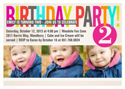 Girl Party Invitations - Color Cool Pink
